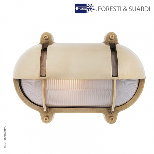 Oval Bulkhead Light With Eyelid 2435 Large by Foresti & Suardi