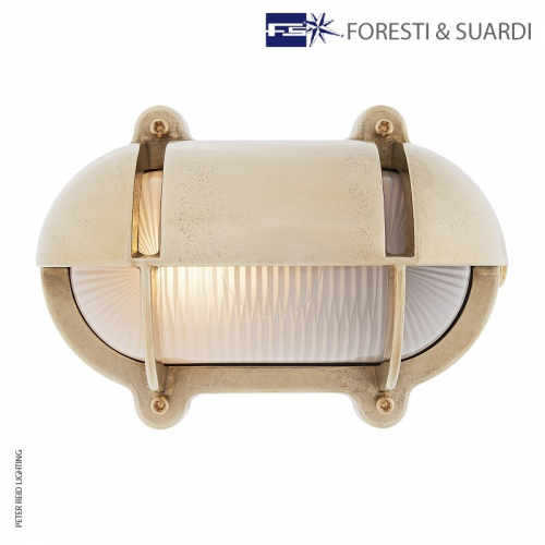 Oval Bulkhead Light With Eyelid 2436 Small by Foresti & Suardi