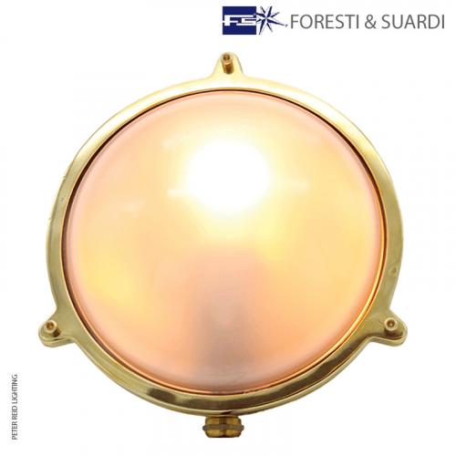 Large Round Bulkhead Light Without Guard 2027A by Foresti & Suardi