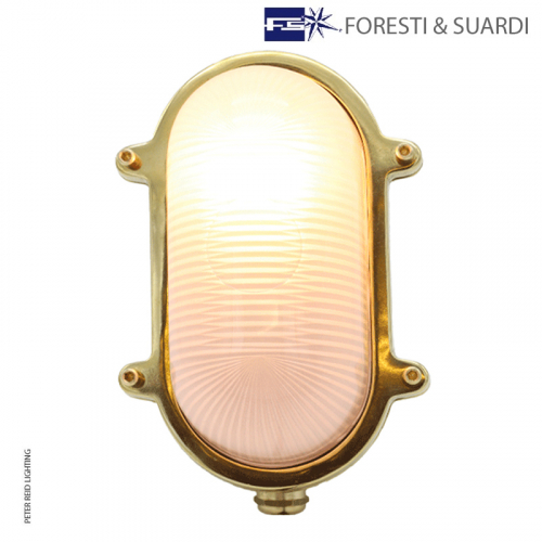 Medium Oval Bulkhead Light Without Guard 2035BA by Foresti & Suardi