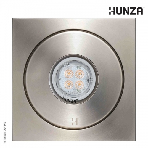Hunza Flush Floor Light Square GU10