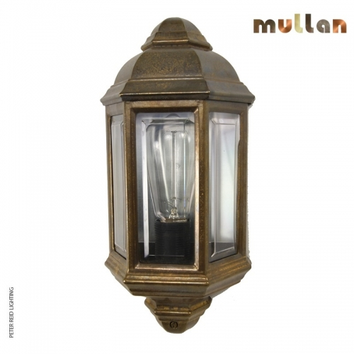 Brent Brass Outdoor Wall Light IP44 by Mullan Lighting
