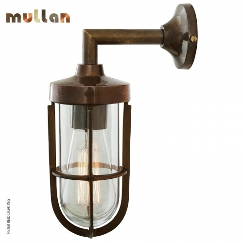 Cladach Brass Well Glass Wall Light IP65 by Mullan Lighting