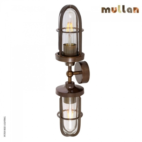 Clayton Double Well Glass Wall Light IP54 by Mullan Lighting