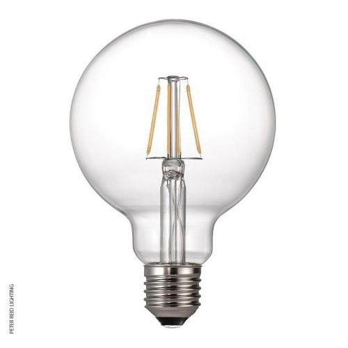 Mullan E27 4 Watt XL Round Dimmable LED Filament Bulb