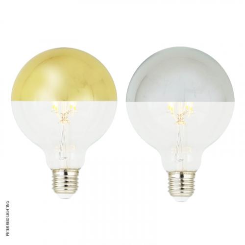 Mullan E27 4 Watt Dimmable LED Filament Mirror Top Light Bulb