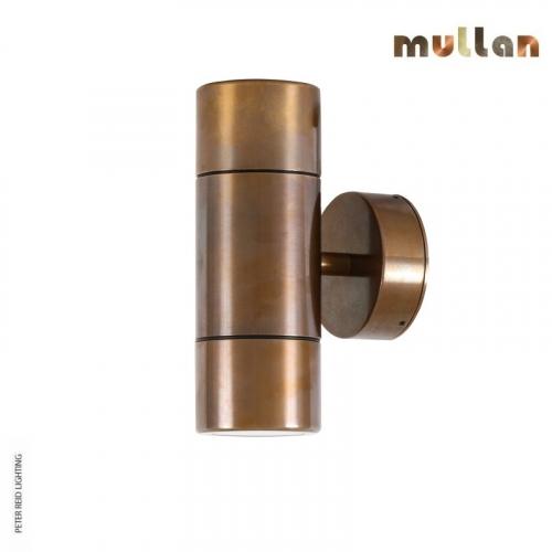 Lana Brass Up/Down Wall Spot Light IP65 by Mullan Lighting