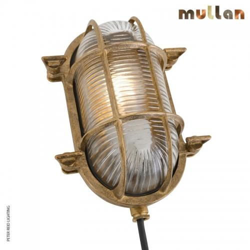 Ruben Small Oval Marine Bulkhead Light IP64 by Mullan Lighting