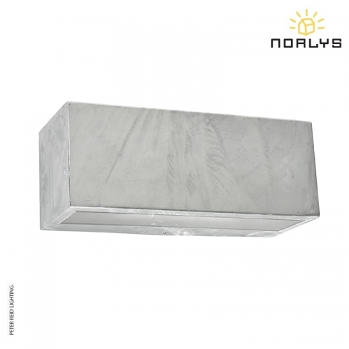 Asker Small Up/Down Wall Light Galvanized by Norlys