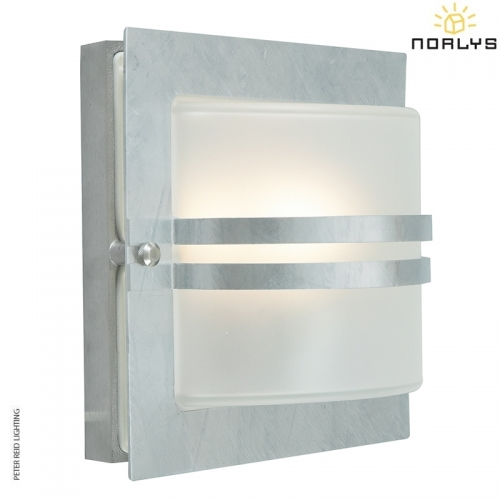 Bern Galvanized Frosted Glass by Norlys