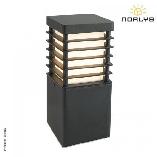 Halmstad Small Bollard Black by Norlys