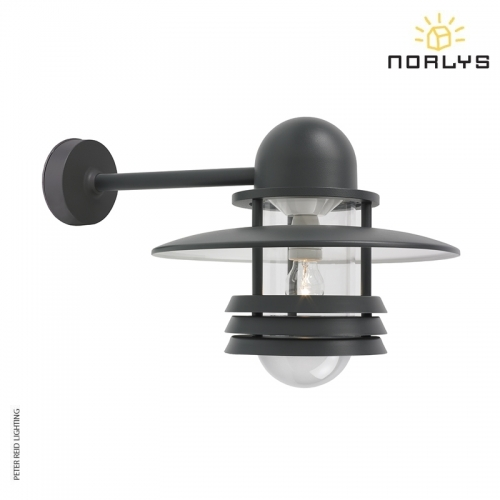 Helsinki Graphite Large Industrial Wall Light by Norlys