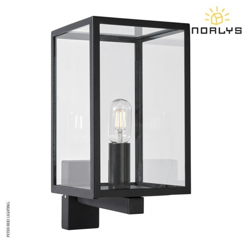 Lofoten Black Wall Light With Arm by Norlys
