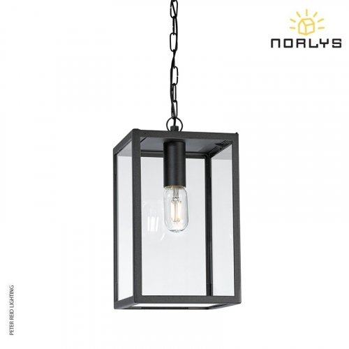 Lofoten 8 Black Ceiling Chain Light by Norlys