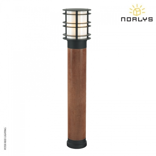 Stockholm Bollard Large Stained Wood Black by Norlys