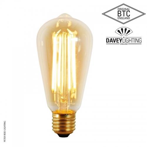 Original BTC E27 3 Watt Squirrel Cage LED Bulb