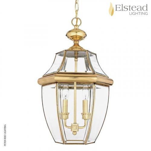 Newbury Large Brass Chain Lantern