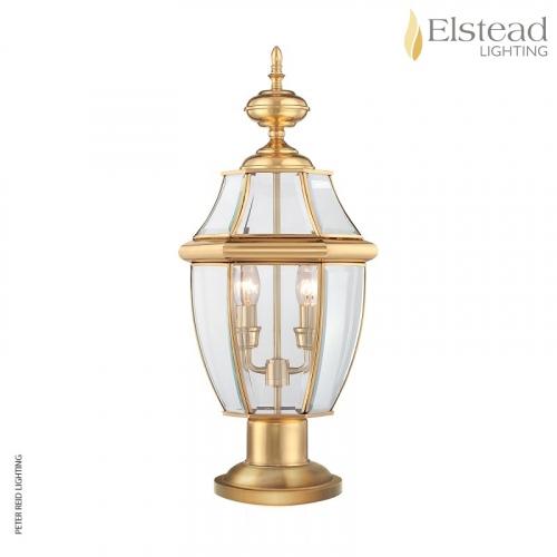 Newbury Brass Pedestal Lantern