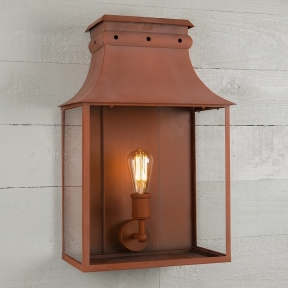 Bath Coach Lamp Corten Steel Large