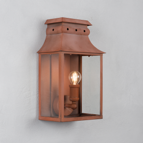 Bath Coach Lamp Corten Steel Small