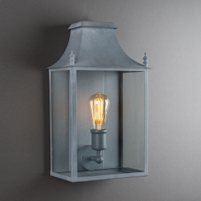 Blenheim Coach Lamp Weathered Zinc Medium