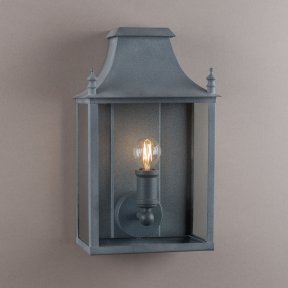 Blenheim Coach Lamp Weathered Zinc Small