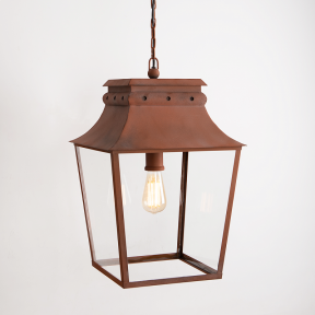 Bath Hanging Lantern Corten Steel Large