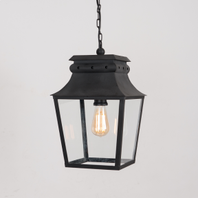 Bath Hanging Lantern Matt Black Small