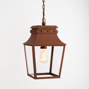 Bath Hanging Lantern Corten Steel Small