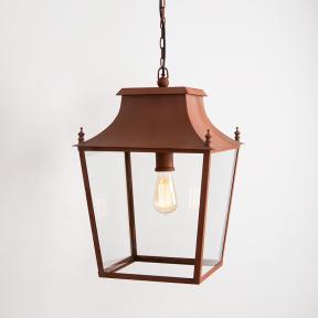 Blenheim Hanging Lantern Corten Steel Large