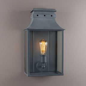 Bath Coach Lamp Weathered Zinc Medium
