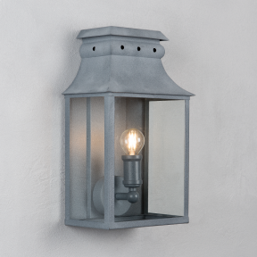 Bath Coach Lamp Weathered Zinc Small