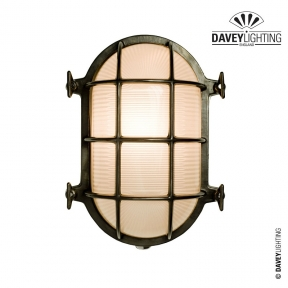 Brass Oval Bulkhead 7035 75W by Davey Lighting