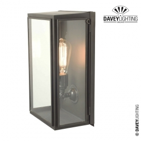 Box Wall Light Large Externally Glazed 7642 by Davey Lighting
