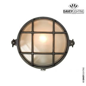 Brass Bulkhead 7028 With Guard 60W by Davey Lighting