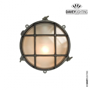 Brass Bulkhead 7029 With Fixings Through Feet 75W by Davey Lighting