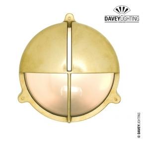 Brass Bulkhead 7427 With Eyelid 75W by Davey Lighting