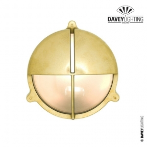 Brass Bulkhead 7428 With Eyelid 60W by Davey Lighting