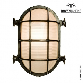 Brass Oval Bulkhead 7034 100W by Davey Lighting