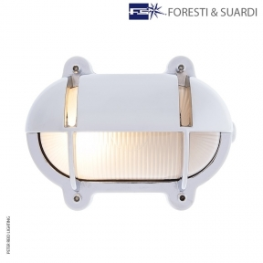 Oval Bulkhead Light With Eyelid 2435B Medium by Foresti & Suardi