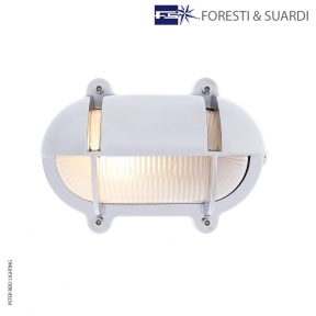 Oval Bulkhead Light With Eyelid 2436 Small by Foresti & Suardi