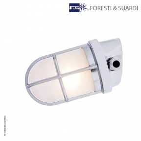 Angled Wall Light With Guard 2297 by Foresti & Suardi
