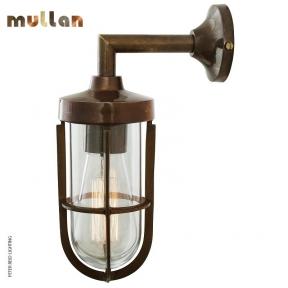 Cladach Brass Well Glass Wall Light IP65 by Mullan Lighting