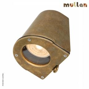 Wade Brass Outdoor Wall Spot Down Light GU10 IP54 by Mullan Lighting