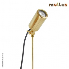 Yara Brass Outdoor Spike Spot Light GU10 IP65 by Mullan Lighting