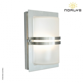 Basel Stainless Steel Frosted Glass by Norlys