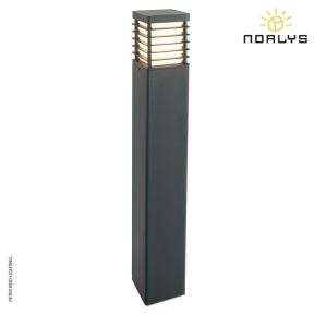 Halmstad Large Bollard Black by Norlys