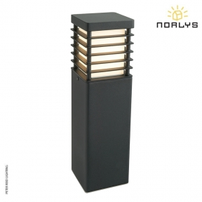 Halmstad Medium Bollard Black by Norlys