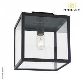 Lofoten F1 Black Ceiling Flush Light by Norlys