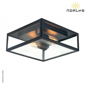 Lofoten F2 Black Flush Ceiling Light by Norlys